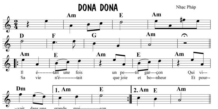 Dona Dona - Sheet music
